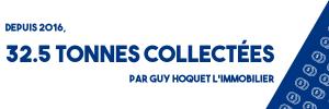32.5 Tonnes collectées Guy Hoquet immobilier